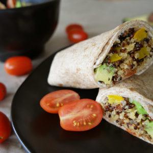 Mediteraner Quinoa Wrap