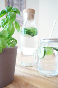 Gurke-Basilikum Infused Water