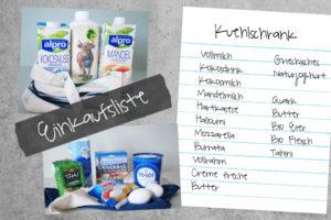 Einkaufsliste für den Kühlschrank