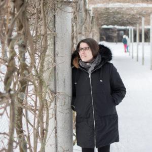 Ohne Zucker in verschneiter Winterlandschaft