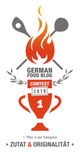 German Food Blog Award 1. Platz